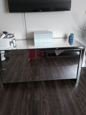 Mirrored glass dresser with for drawers. Brand new still in the box. for Sale in Blacklick, OH