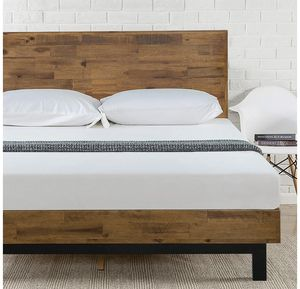 Zinus Tricia Platform Bed / Mattress Foundation / Box Spring Replacement / Brown, Queen for Sale in Oakland, CA