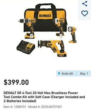 Dewalt XR 20 volt power tool kit combo brushless NEW for Sale in Columbus, OH