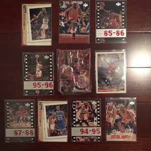 Michael Jordan Basketball 10-Card Lot #3. Sealed Upper Deck Metal Card! for Sale in Clermont, FL