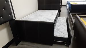 Twin trundle bed frame with mattresses included for Sale in Phoenix, AZ