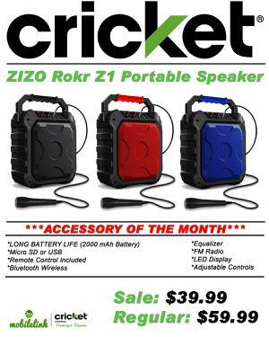 Zizo Rokr Z1 Bluetooth Speaker for Sale in Traverse City, MI