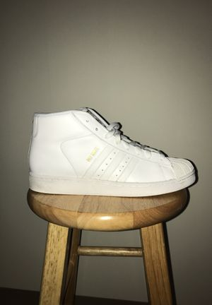 Adidas hi top pro model all white for Sale in St. Louis, MO