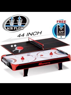 Brand new MD Sports 44 inch Air Powered Hockey Table Top with Table Tennis Top with APP Scorer. for Sale in Bayonne, NJ