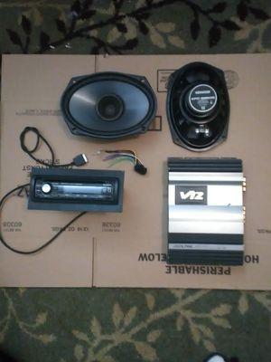 SONY XPLOD CAR STEREO & ALPINE AMP & SPEAKERS for Sale in Portland, OR