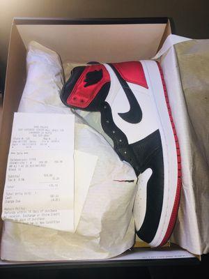 Jordan 1 retro high satin black toe size(12w 10.5m) for Sale in Downey, CA