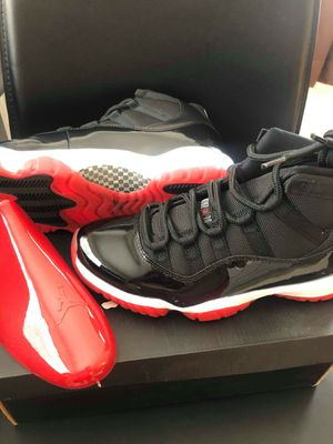 Brand new air jordan bred 11 sizec10 for Sale in Hollywood, FL