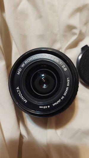 Minolta md w. Rokkor-x 28mm camera lens for Sale in La Verne, CA