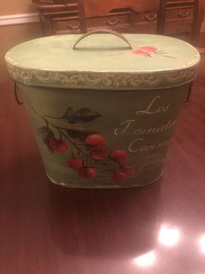 Metal decorative container for Sale in West Monroe, LA