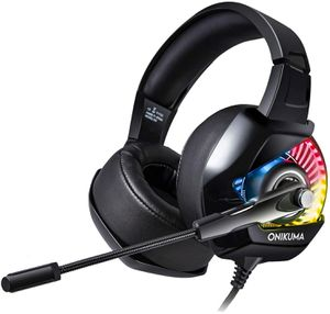 ONIKUMA K6 Stereo Gaming Headset for PS4, PC, Xbox One Controller, Noise Cancelling Over Ear Headphones with Mic, LED Light, Bass Surround for Sale in Allen, TX