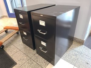 BLACK METAL FILE CABINETS (($40 EACH)) for Sale in Bel Air, MD