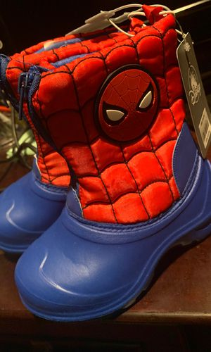 Spider man snow boots for Sale in San Bernardino, CA