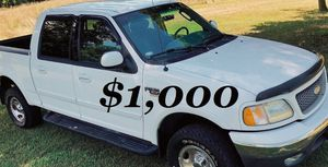 $1,000 URGENT For sale 2002 Ford F-150 runs and drives excellent very smooth transmission for Sale in Billings, MT