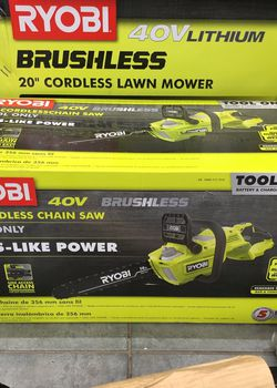 "Ryobi 14"" Cordless Chain Saw 40V! $40 Initial Payment!!! for Sale in Tampa,  FL"