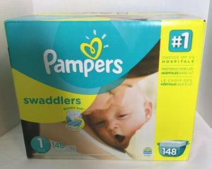 Pampers Swaddlers Size 1 (148 ct) for Sale in Vancouver, WA