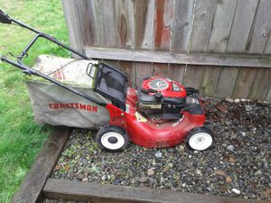 Craftsman 6.75 horsepower lawn mower and M light weed eater for Sale in Tacoma, WA