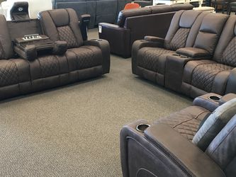 3-Piece Dark Brown Manual Reclining Set for Sale in Overland,  MO
