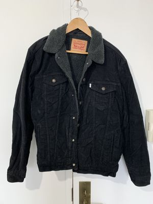 Levi's black corduroy Sherpa lined jacket Large for Sale in New York, NY