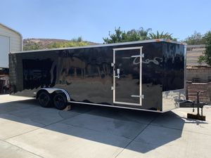 (Brand new 2020) 24' plus v-nose Enclosed Trailer for Sale in Riverside, CA