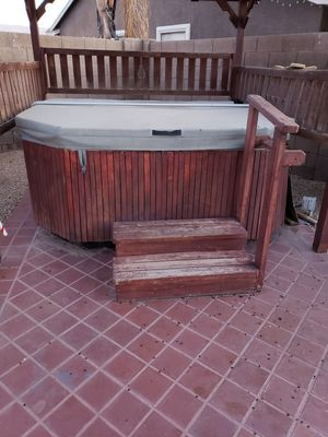 Free 6 person hot tub, you move it and haul it on your own. Needs some PVC plumbing underneath replaced. But it does work. for Sale in Glendale, AZ