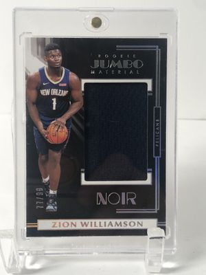 2019-20 Zion Williamson Rookie Noir Jumbo Material Patch 77/99 for Sale in Minneapolis, MN