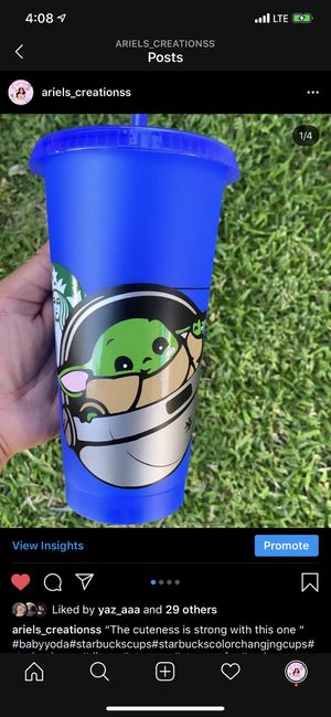 Baby yoda inspiredstarbucks cup for Sale in Irwindale, CA