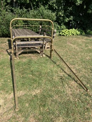 Bed metal, double , gold color for Sale in Waterbury, CT