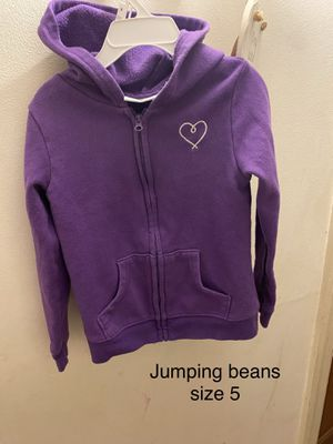Jumping beans girls size 5 zip up hoodie for Sale in Mundelein, IL