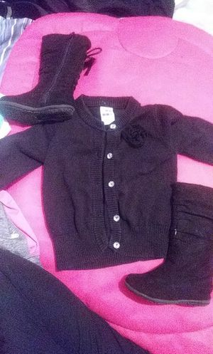 Girls black sweater & boots for Sale in St. Louis, MO