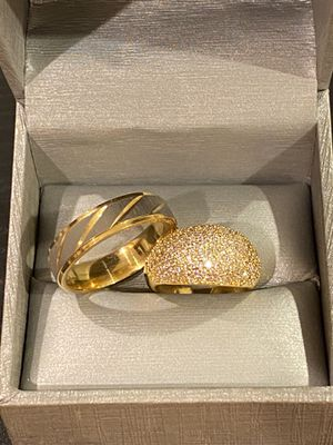 18K Gold plated Wedding /Engagement Ring Set -Code BZ010 for Sale in Jacksonville, FL