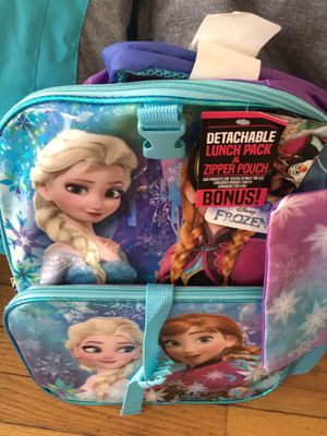 Elsa and Anna book bag plus lunch bag. Brand New with tag for Sale in Boston, MA