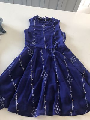 Blue girl dress size 7 for Sale in North Palm Beach, FL