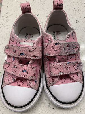 Toddler Hello Kitty Converse Size 7T for Sale in Las Vegas, NV