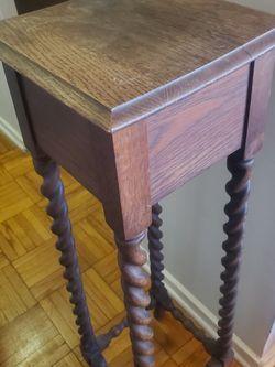 Antique English Oak Barley Twist Square Table for Sale in Alexandria,  VA