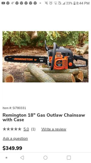 Remington 18 inch Chainsaw w/case for Sale in Oatfield, OR