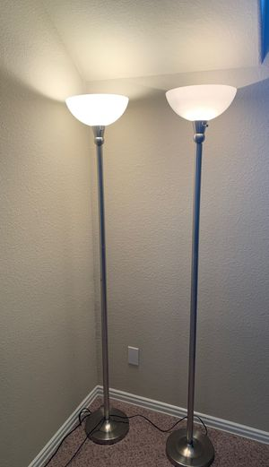 Silver floor lamps for Sale in Spring, TX