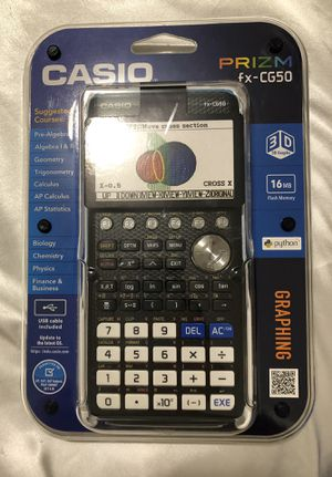 Casio PRIZM High-Res 3D Color Graphing Calculator - Black (FX-CG50) for Sale in Washington, DC