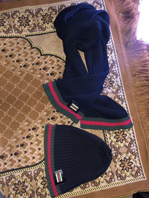 Gucci hat and scarf. Used only once. Throw me offers! for Sale in Berwyn Heights, MD