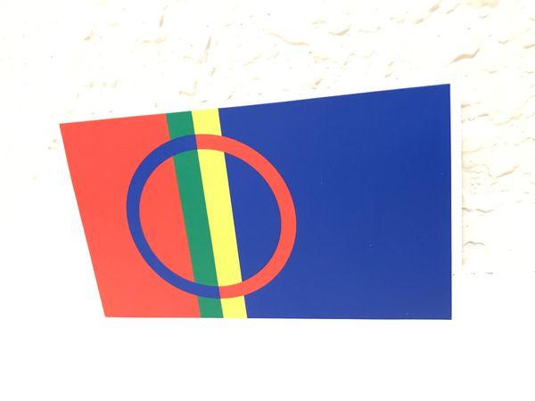 "Vinyl Sticker Flag Sami people Lapland 2 1/2"" by 3"""