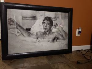 Scarface drawing collectable customized frame huge deal $50!!! for Sale in Dalton, GA