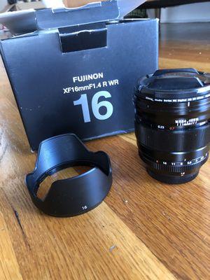 Fuji Fujinon XF 16mm 1.4 lens for Sale in New York, NY