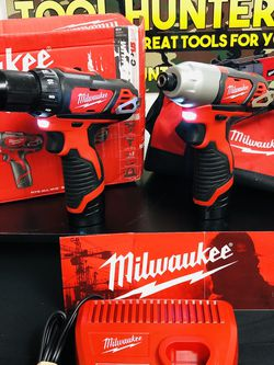 NEW ! NEVER USED !! Milwaukee M12 Combo Kit With A 2.0 And A 1.5 Battery And Charger ! for Sale in Rancho Cucamonga,  CA