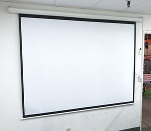 "(NEW) $55 Electric 100"" 4:3 Projector Screen Auto w/ Remote Control 80""x60"" for Sale in Whittier, CA"