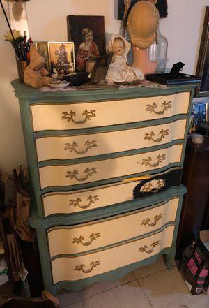 Antique Vintage Large Tall Boy dresser Drawer Furniture MUST GO for Sale in Fort Lauderdale, FL