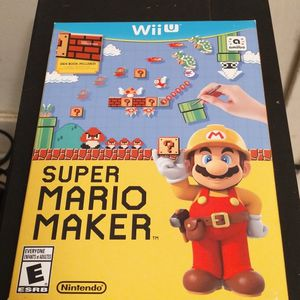 Super Mario Maker For Wii U (Unopened) for Sale in Cabazon, CA