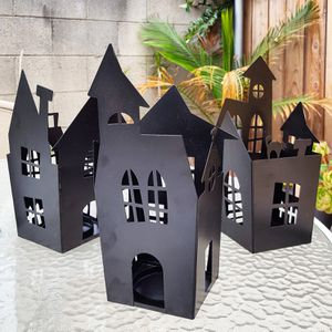 (3) Haunted Spooky Houses Candle Holder Halloween Decorations Decor for Sale in Tujunga, CA
