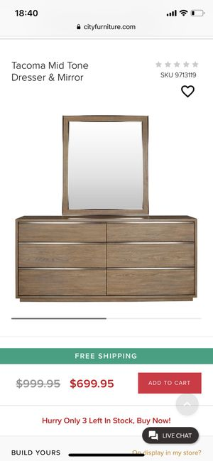 Dresser and mirror for Sale in Windermere, FL