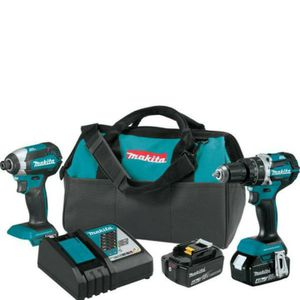 Makita 18-Volt LXT Lithium-Ion Brushless Cordless Hammer Drill and Impact Driver Combo Kit (2-Tool) w/ (2) 4Ah Batteries, Bag for Sale in Miami, FL