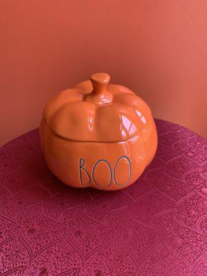 Rae Dunn BOO ORANGE Small CANDY JAR Pumpkin LL 2020 for Sale in Alexandria, VA