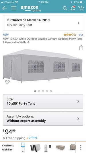 Large party tent for Sale in Sewickley, PA